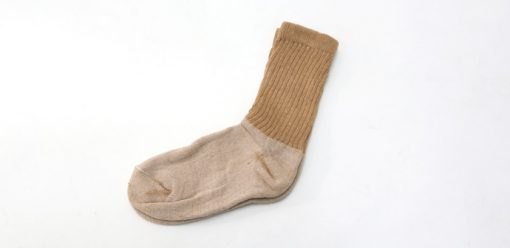 organic brown socks crew