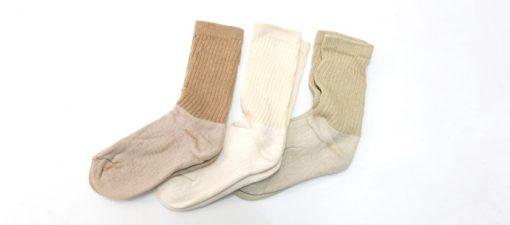 organic socks natural colors