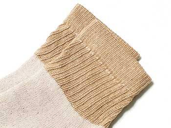 brown organic short crew socks